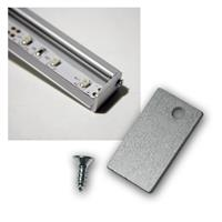 End plate for LED aluminum wall profile, 1 piece