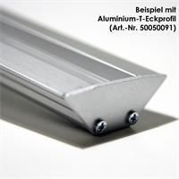 Endplatte aus eloxiertem Aluminium für T-Eckprofile