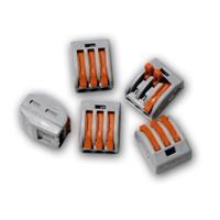10x push wire junction boxes, 3 poles x 2.5mm²