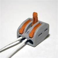 Dosenklemmen mit Betätigungshebel, Farbe grau und orange