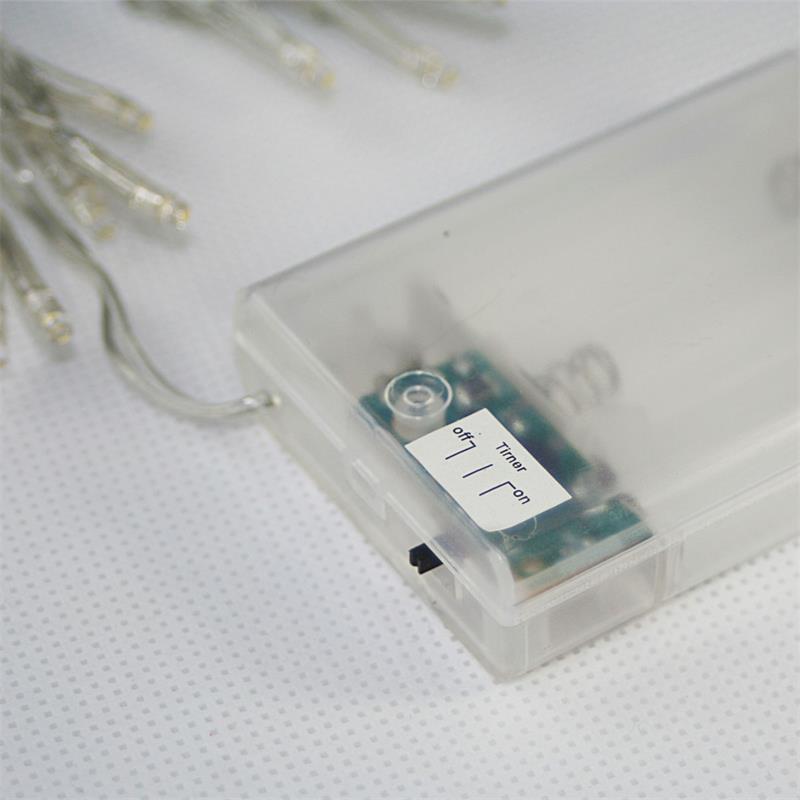 Weihnachtsbeleuchtung Mit Timer.Batterie Lichterkette 15 Leds Warmweiß Mit Timer
