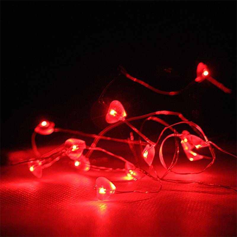 led batterie lichterkette string 12 rote herzen. Black Bedroom Furniture Sets. Home Design Ideas