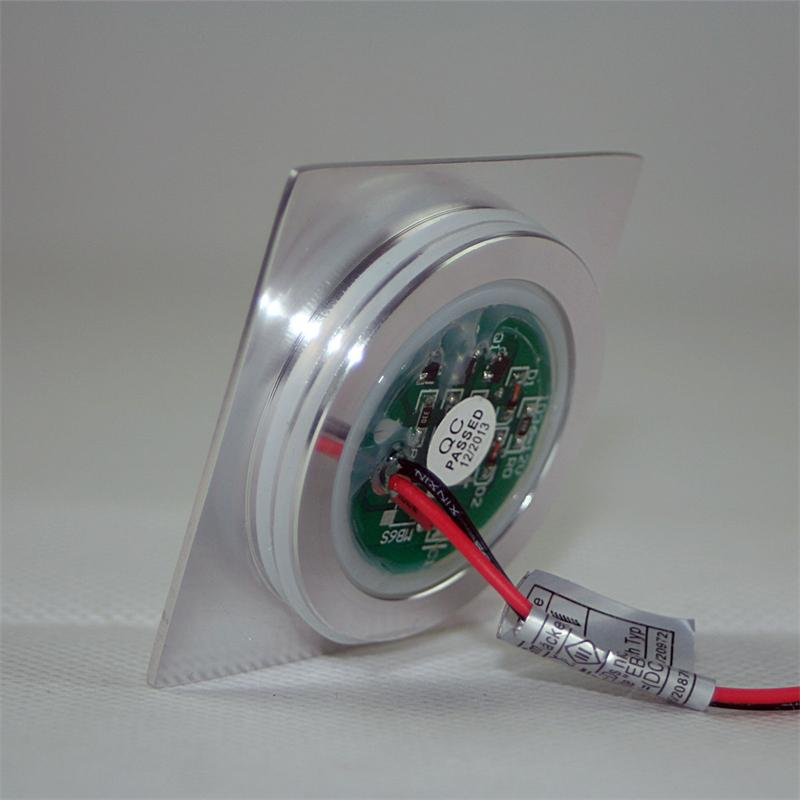 LED Einbauleuchte EBL-Slim-Q | IP67 | flach | warmweiß | Alu