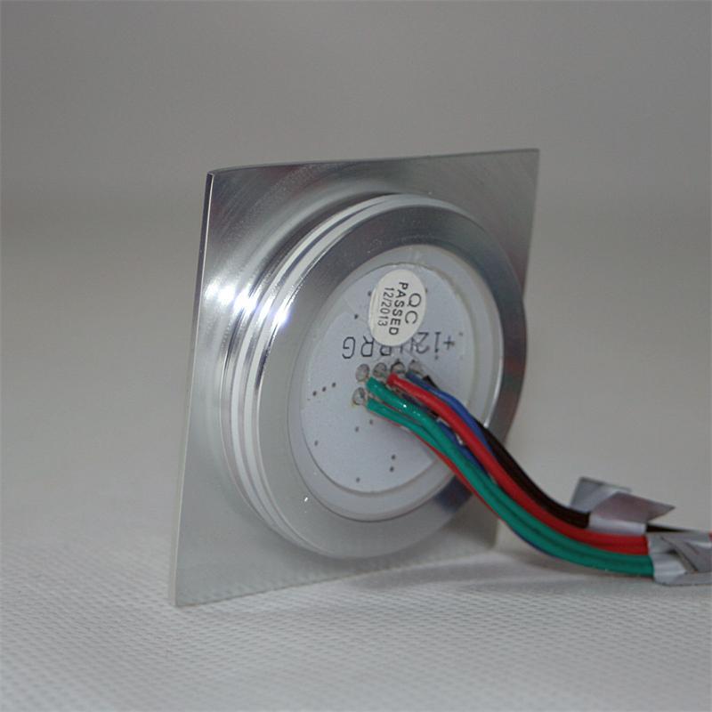 Einbauleuchte EBL-Slim-Q | IP67 | 6 LEDs | RGB | Alu-matt