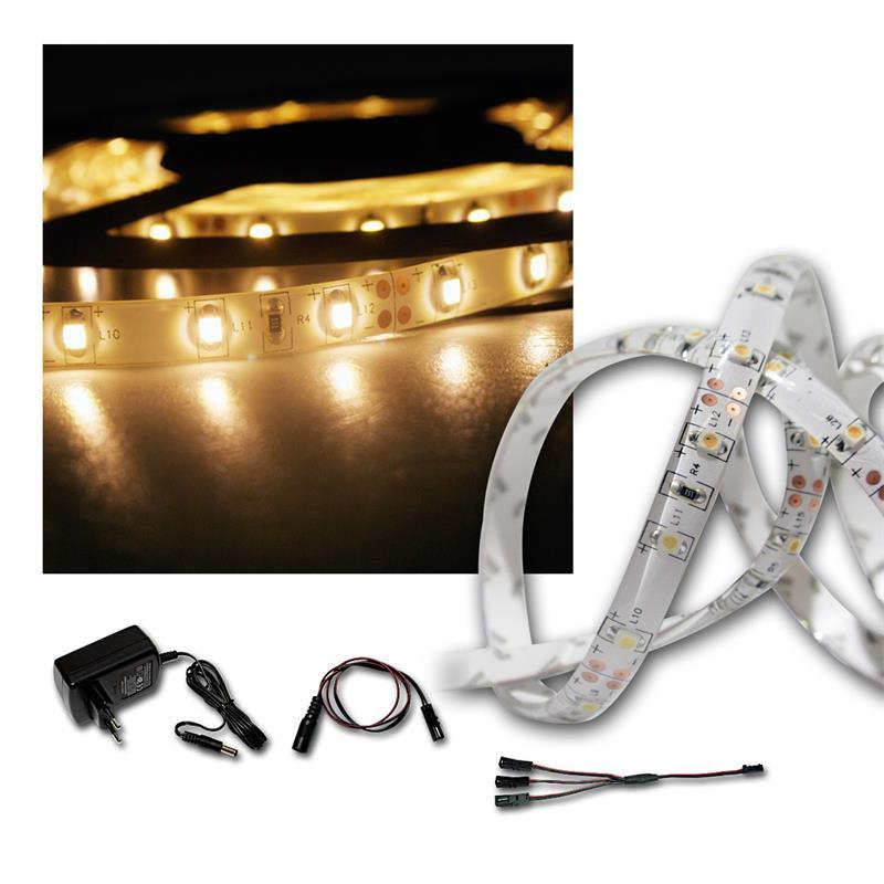 LED Lichtband Set 2x 2,4m warmweiß + Trafo, Stripe