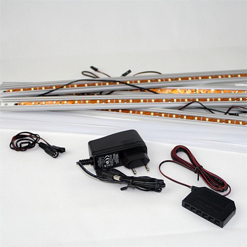 led leiste starline mikro 50cm pur wei 5er set. Black Bedroom Furniture Sets. Home Design Ideas