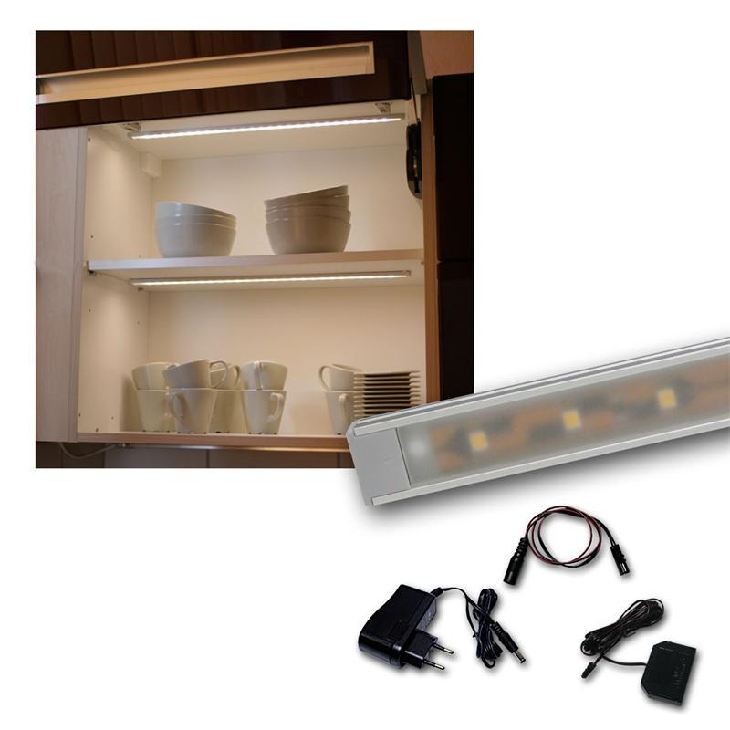 set led lichtleiste 4 x wtn flat 50cm warmwei. Black Bedroom Furniture Sets. Home Design Ideas