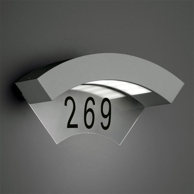 led hausnummernleuchte titanfarbig 5w 240lm. Black Bedroom Furniture Sets. Home Design Ideas