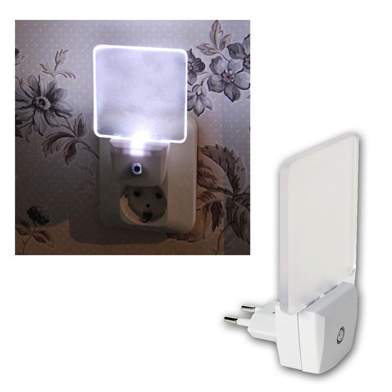 led sensor nachtlicht kaltwei mit lichtsensor 230v. Black Bedroom Furniture Sets. Home Design Ideas