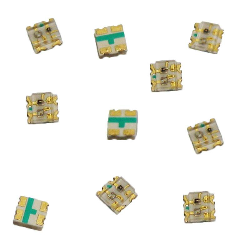 RED BLUE 10 x SMD LED 0603 BICOLOR rot-blau 2-FARBIG
