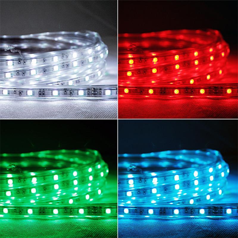 5m led lichtband rgb multicolor 230v ca 65w. Black Bedroom Furniture Sets. Home Design Ideas