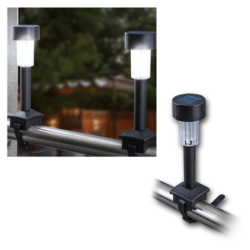 4er set led solarleuchten mit befestigungsband kaufen. Black Bedroom Furniture Sets. Home Design Ideas