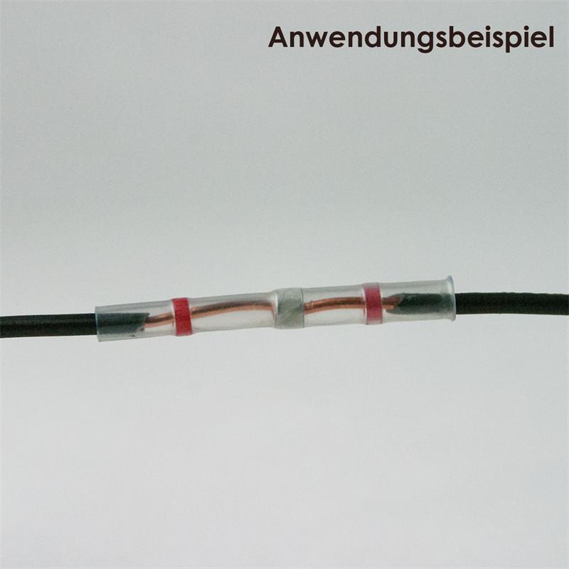 10 Lötverbinder, rot, für 0,8-2,0mm², Innenkleber