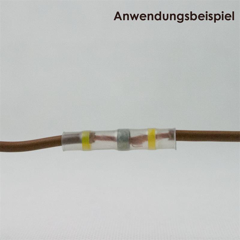 10 Lötverbinder, gelb, für 4,0-6,0mm², Innenkleber