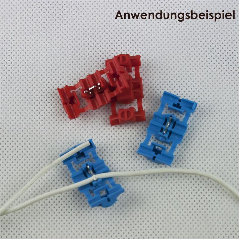 10er Sortiment Klemmverbinder, 5x rot, 5x blau