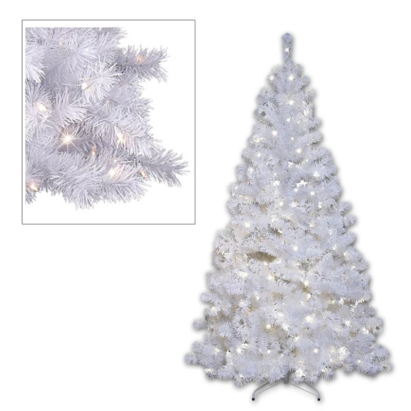 Tannenbaum Weiss Led.Led Weihnachtsbaum Weiß 210cm 260 Daylight Leds