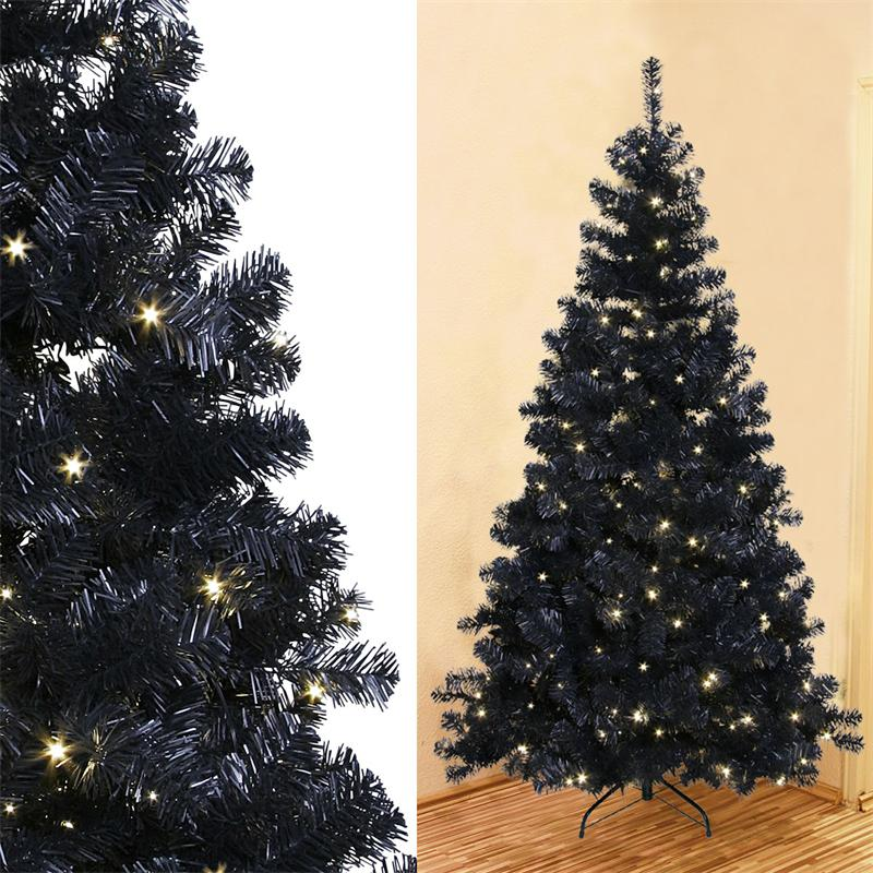 led weihnachtsbaum schwarz 210cm 260 daylight leds. Black Bedroom Furniture Sets. Home Design Ideas