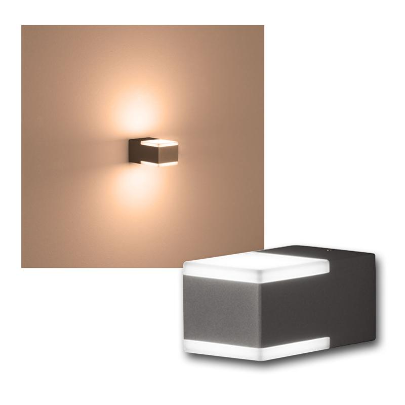 au en wandleuchte don anthrazit 2x3w led 220lm. Black Bedroom Furniture Sets. Home Design Ideas