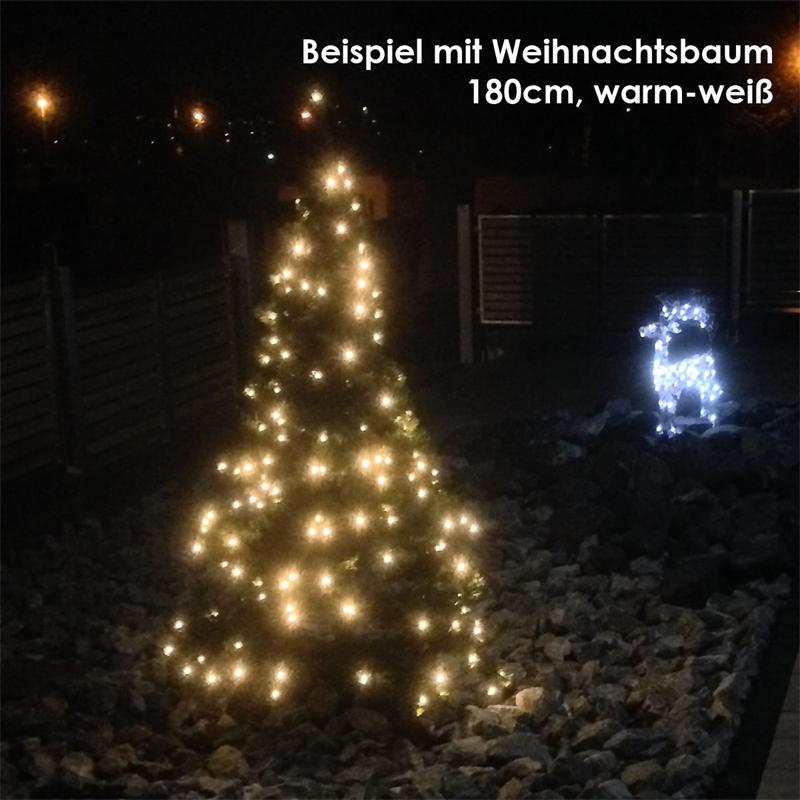 Künstlicher Weihnachtsbaum Außen.Künstlicher Weihnachtsbaum 2 1m Led Beleuchtung Für Außen