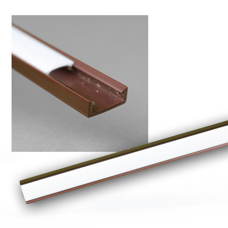 led kunststoff profil mini 1m braun abdeckung opal. Black Bedroom Furniture Sets. Home Design Ideas