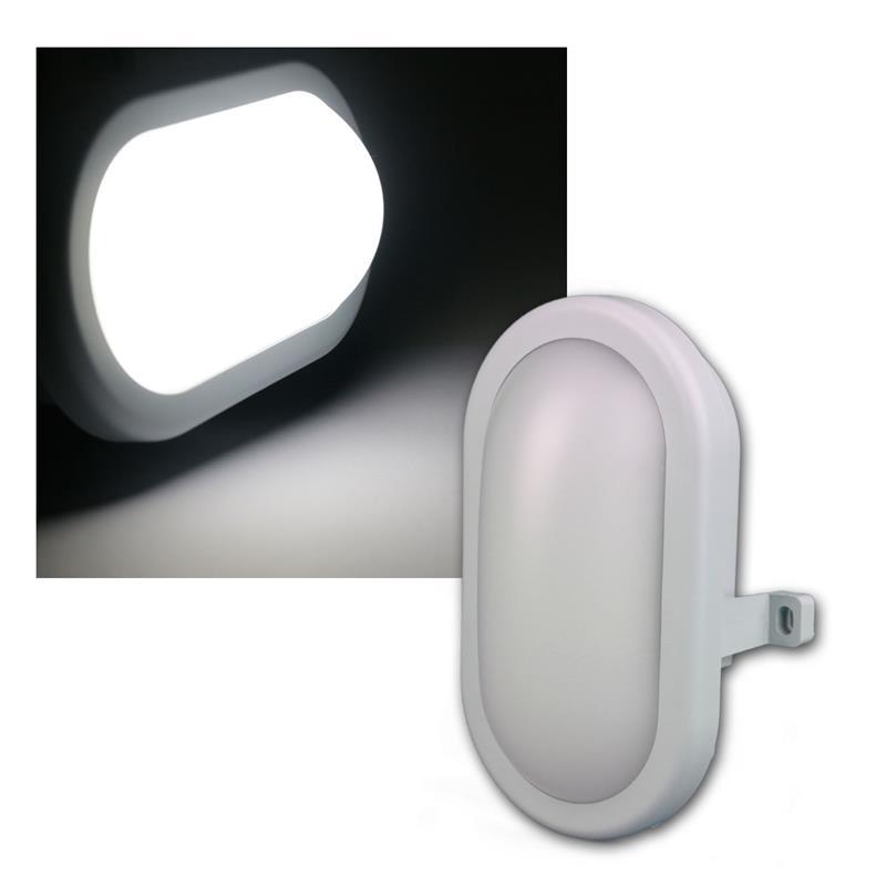 led oval feuchtraum leuchte 230v 5 5w 450lm. Black Bedroom Furniture Sets. Home Design Ideas