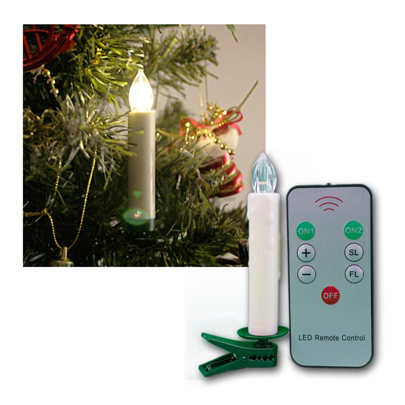 Set Of 10 Led Christmas Tree Lights Remote Control