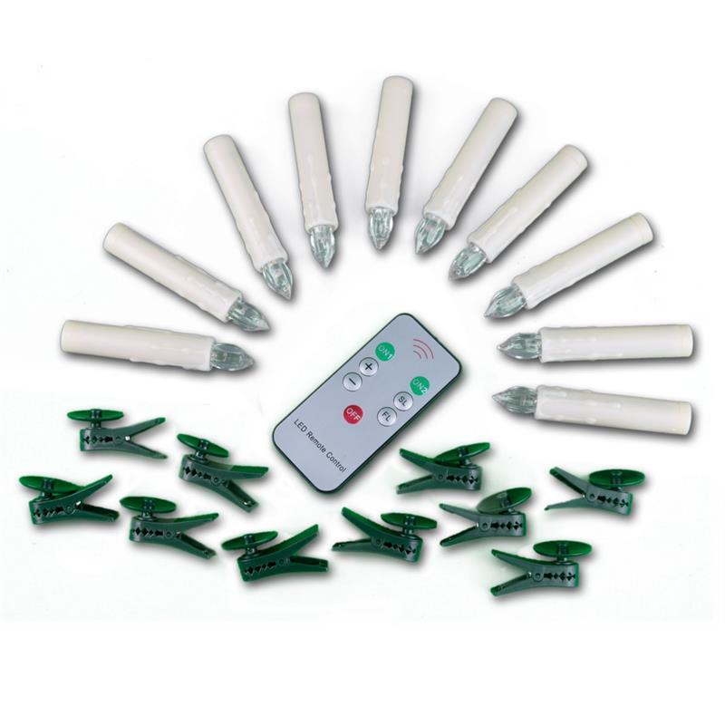 Set of 10 LED Christmas tree lights,remote control
