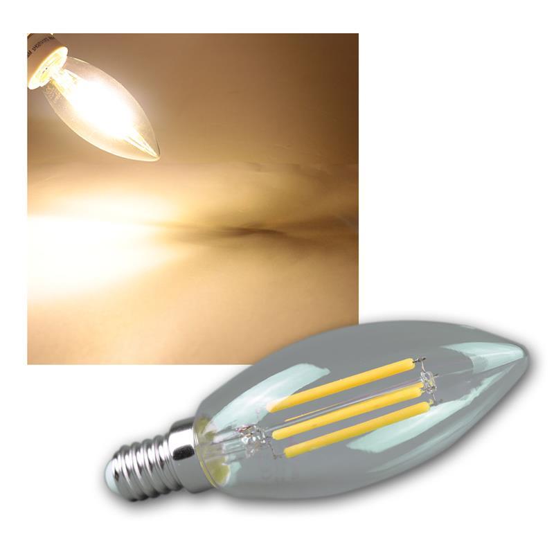 led kerzenlampe e14 filament k4 360lm warmwei. Black Bedroom Furniture Sets. Home Design Ideas