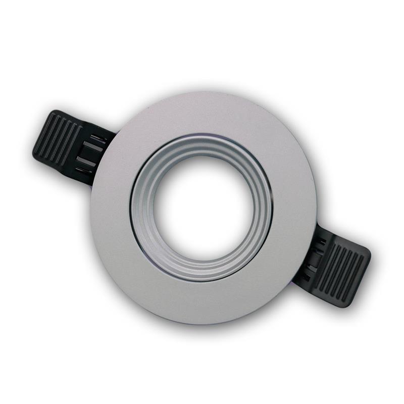 Lampen einbaurahmen mr16 rund silber click in for Lampen click