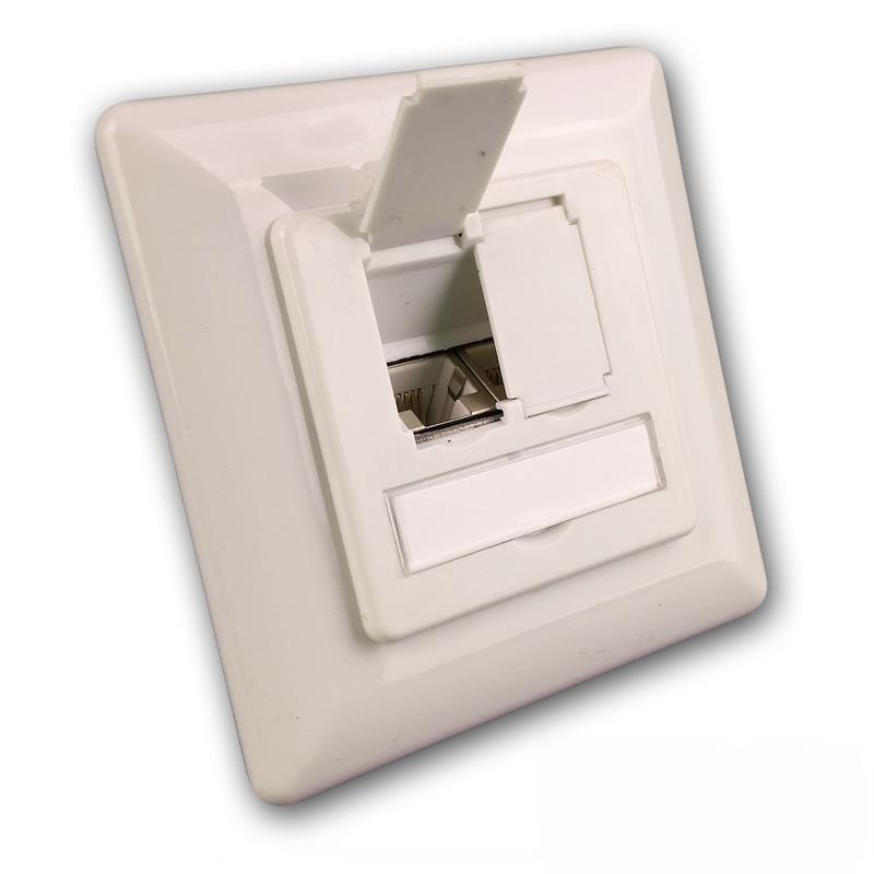 CAT 6 Anschlussdose 2-fach für Aufputz + Unterputz