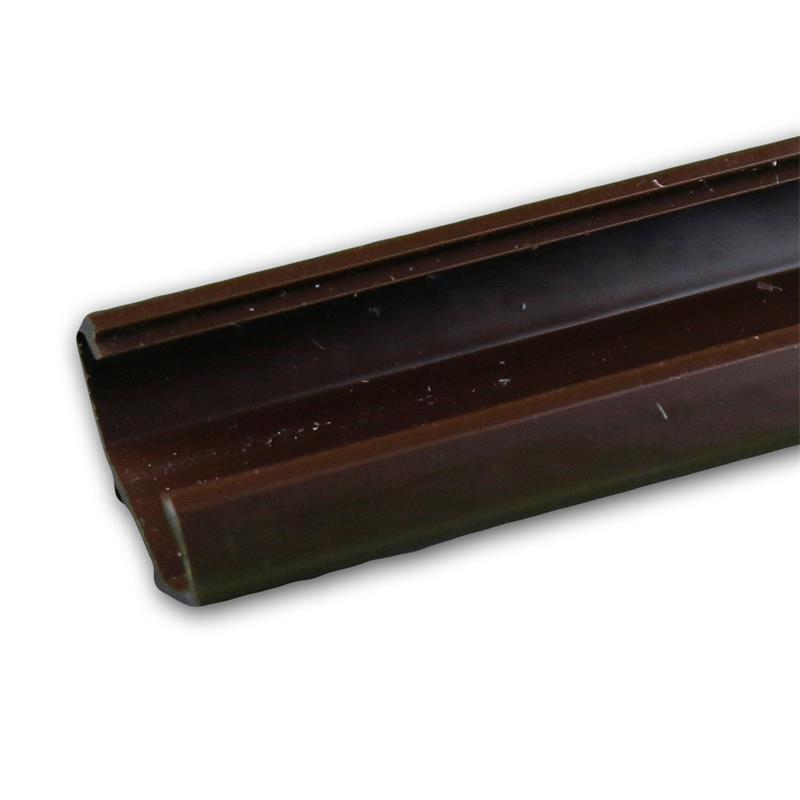 led kunststoff profil ecke 1m braun abdeckung opal. Black Bedroom Furniture Sets. Home Design Ideas