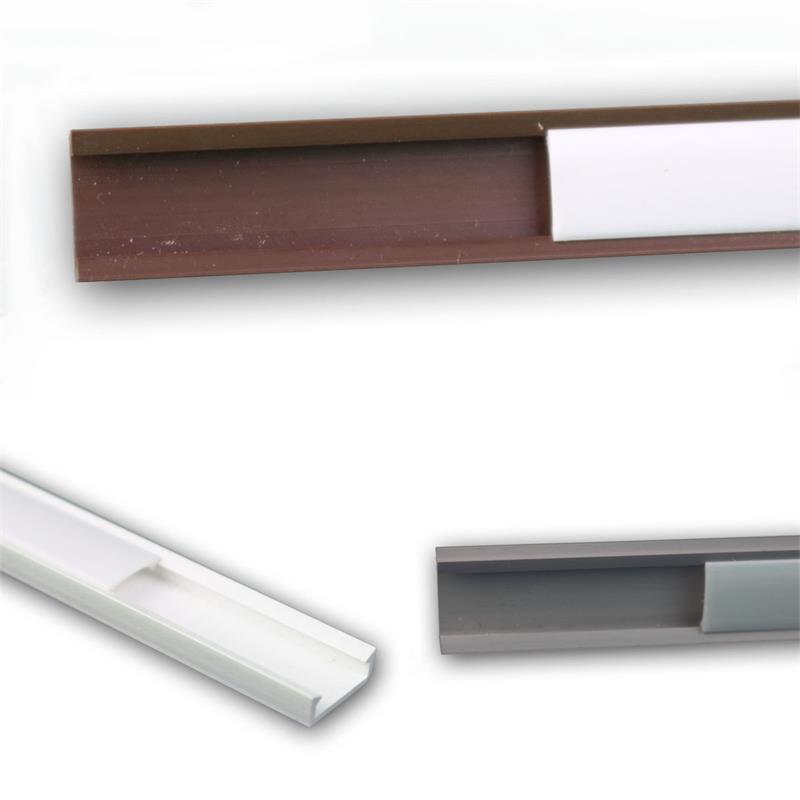 Led Kunststoff Profil 1m U Eckprofil Weiss Grau Braun