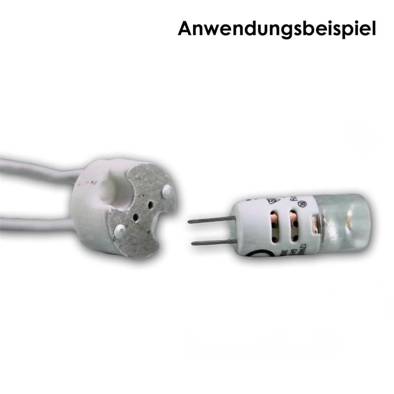 Lampenfassung G4 Keramik max 24V/5A, 15cm Kabel
