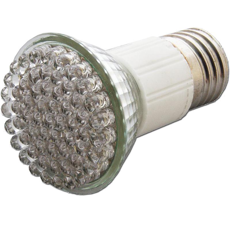 LED Strahler | E27 | warm-weiß | 60x4,8mm LEDs | 230V