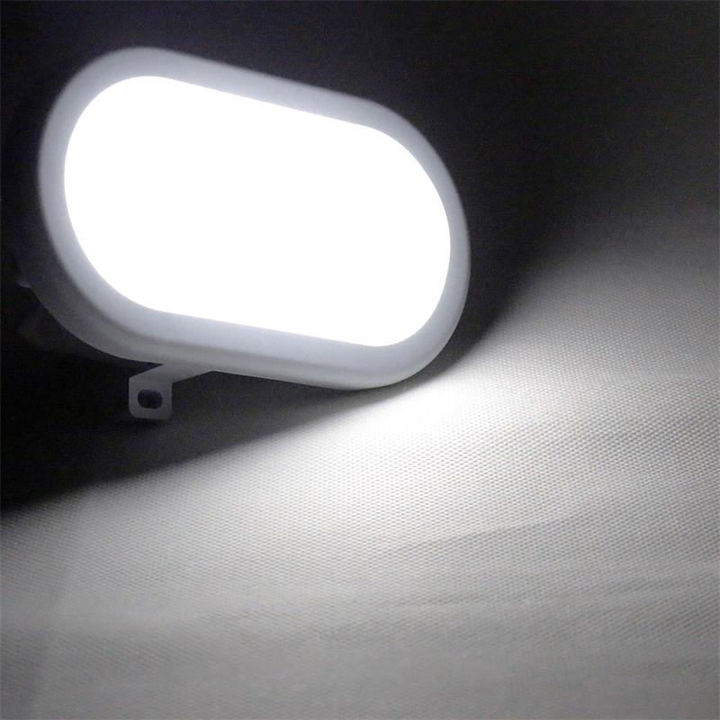 LED Oval Feuchtraumleuchte | 230V/12W | 1000lm daylight