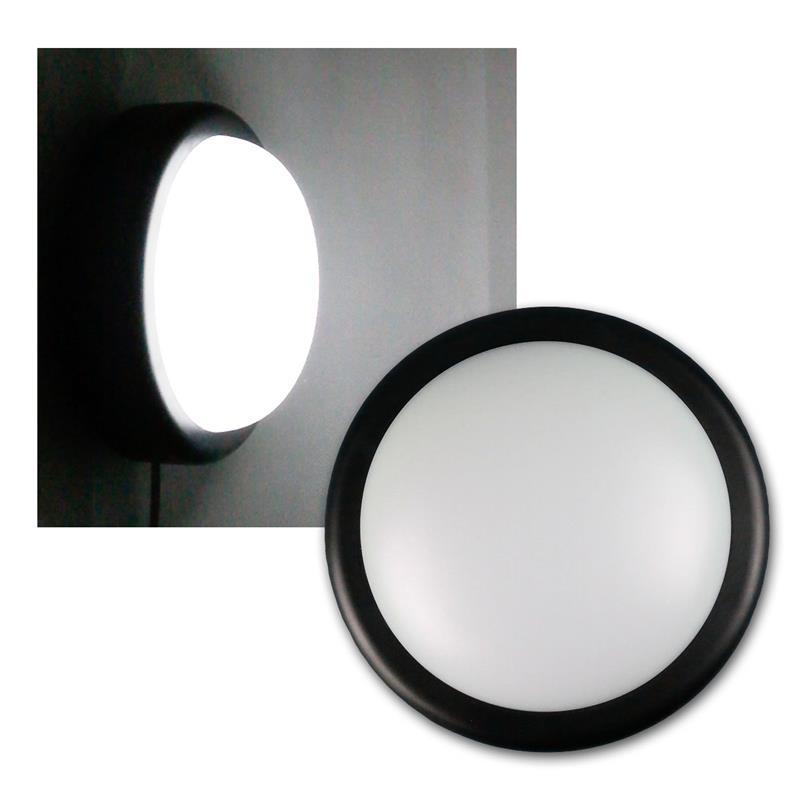 led feuchtraum leuchte schwarz 230v 14w 1000lm. Black Bedroom Furniture Sets. Home Design Ideas