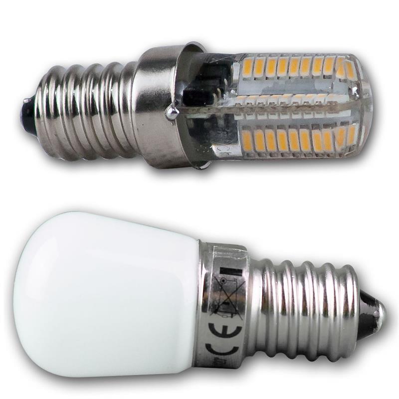 led lampe e14 k hlschranklampe 230v 2 3w 2 farben. Black Bedroom Furniture Sets. Home Design Ideas