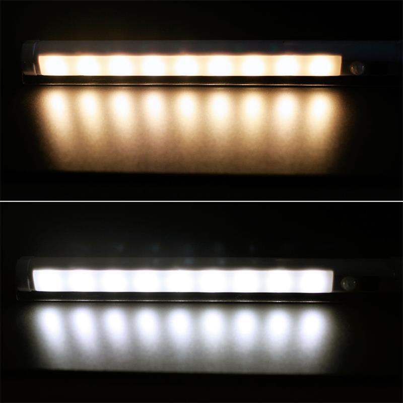 Led Lichtleiste Pir Bewegungsmelder Kabellos Schwenkbar