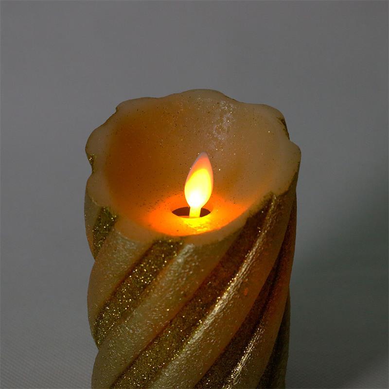 led wachskerze twinkle flame golden bewegl flamme. Black Bedroom Furniture Sets. Home Design Ideas