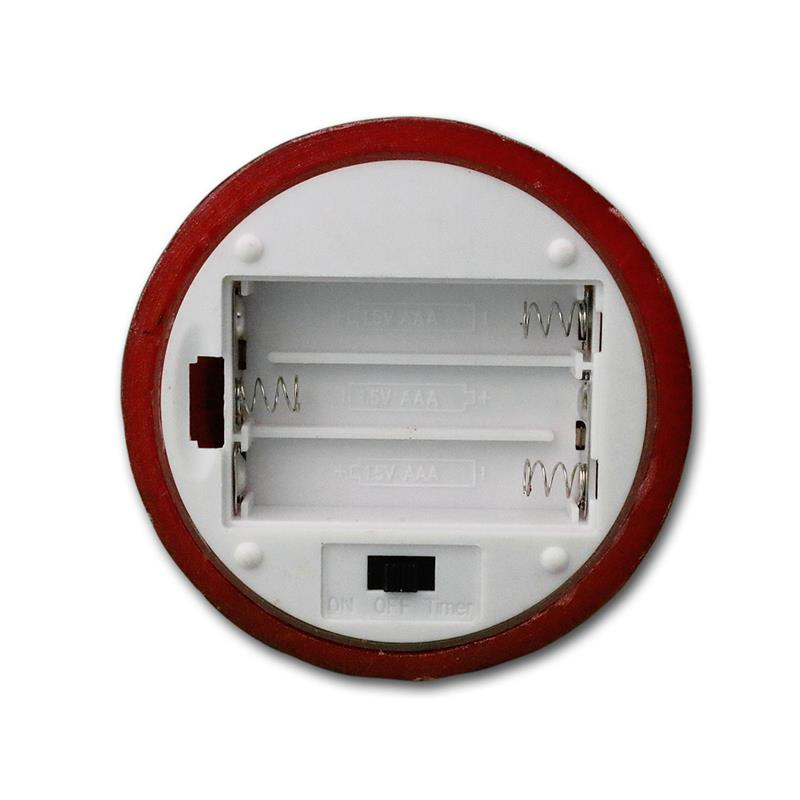 led wachskerze rot 15x7 5cm linda kerze mi timer. Black Bedroom Furniture Sets. Home Design Ideas