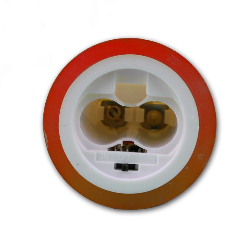 led wachskerze glow flame rot timer 10x5 5cm. Black Bedroom Furniture Sets. Home Design Ideas