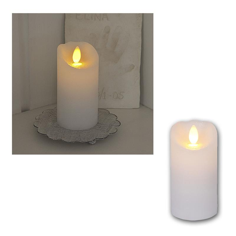 led wachskerze glow flame 10cm kerze mit timer. Black Bedroom Furniture Sets. Home Design Ideas