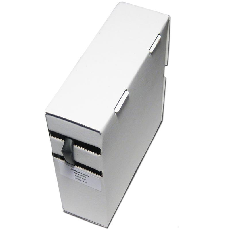 4m Schrumpfschlauch-Box, 3:1,  Ø 6,0/2,0, schwarz