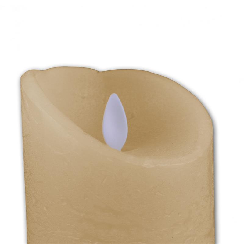 """LED Wachskerze """"Twinkle Flame"""" 15cm, elfenbein"""