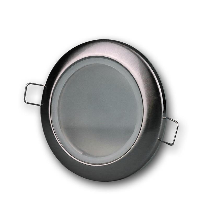 Einbaustrahler Edelstahl-Optik, IP44, rund Ø 92mm