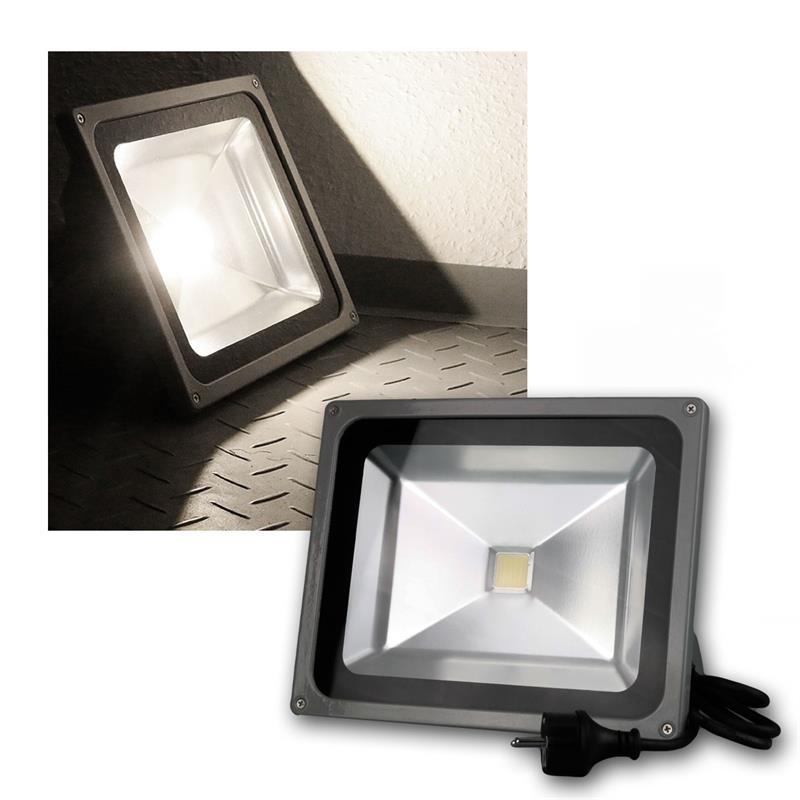 led flutlichtstrahler 50w 230v daylight 3700lm. Black Bedroom Furniture Sets. Home Design Ideas