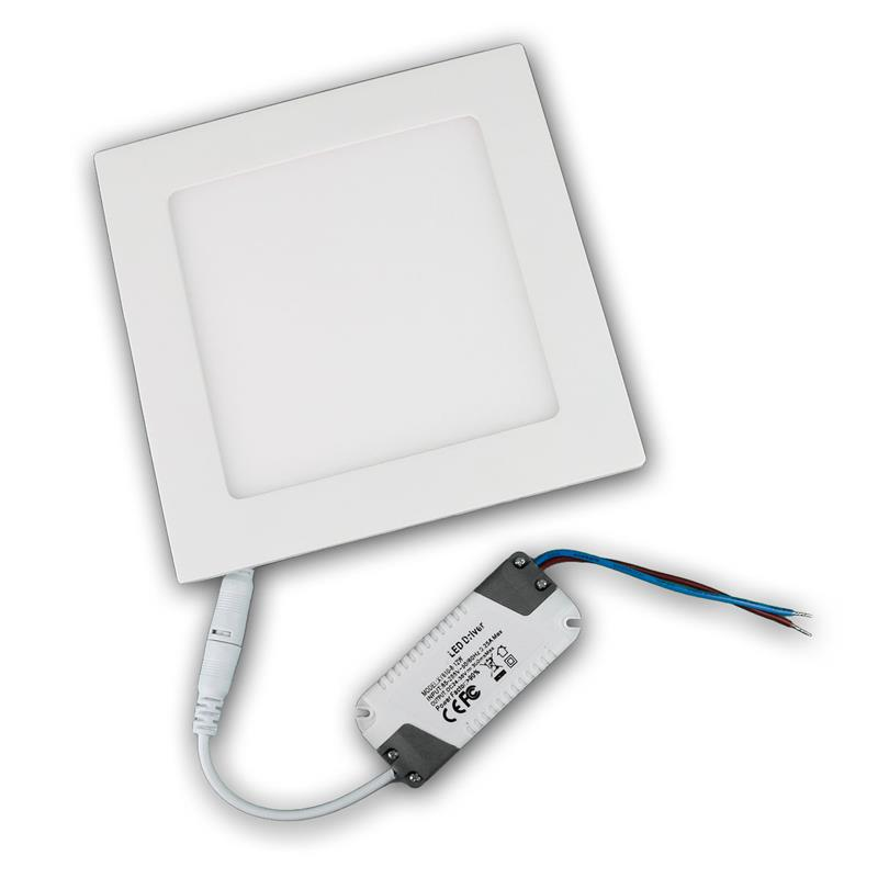 LED panel WP12-EQ warm white 850lm 17x17cm square