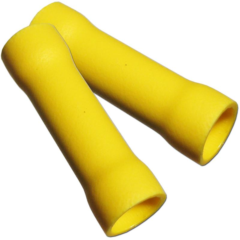 10x butt splices, yellow for 4-6mm²