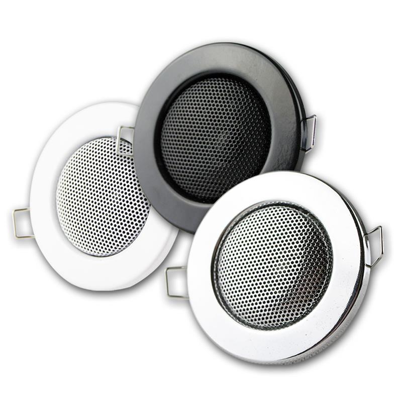 Flush-mount loudspeaker | Ø 8cm | 3 colours | 8 Ohm | 3W