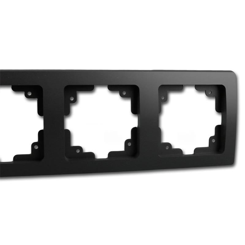 DELPHI 3-fach Rahmen matt-schwarz Steckdosenrahmen